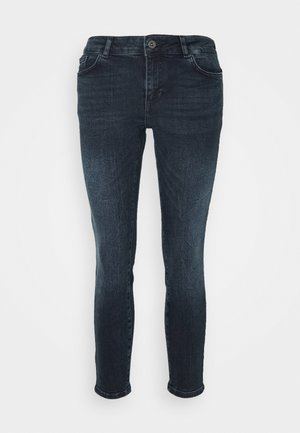 VMELLA - Jeans Skinny Fit - dark blue denim/black