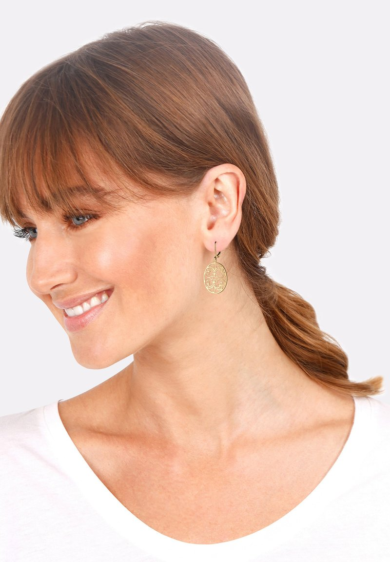 Elli - ORNAMENT FLORAL - Earrings - gold-coloured