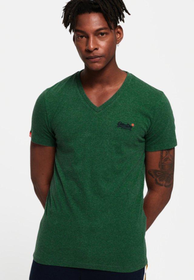 MIT STICKEREI AUS DER ORANGE LABEL KOLLEKTION - Print T-shirt - green