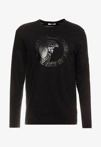 Versace Collection - T-SHIRT GIROCOLLO REGOLARE - Langærmede T-shirts - nero - 3