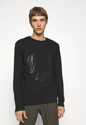 CREWNECK HORSESHOE - Long sleeved top - black