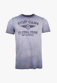 TOP GUN - MIT TOP GUN LOGO EASE - Print T-shirt - navy - 0