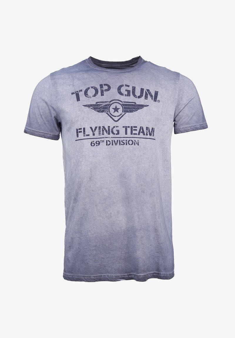TOP GUN - MIT TOP GUN LOGO EASE - Print T-shirt - navy