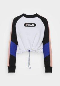 Fila Petite - BANE BLOCKED CROPPED CREW  - Felpa - black/bright white/coral cloud/dazzling blue - 5