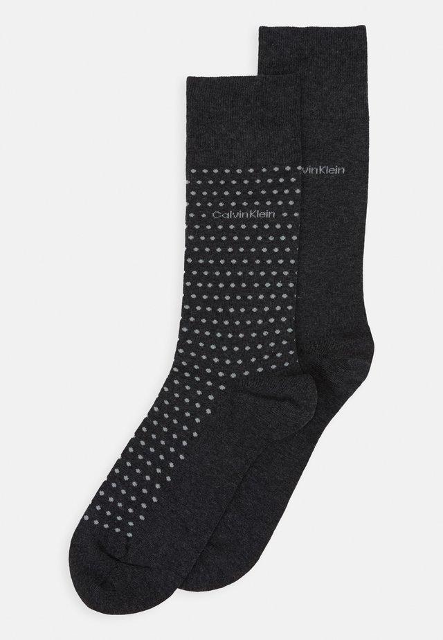 MEN CREW DOT FELIX 2 PACK - Socken - dark grey