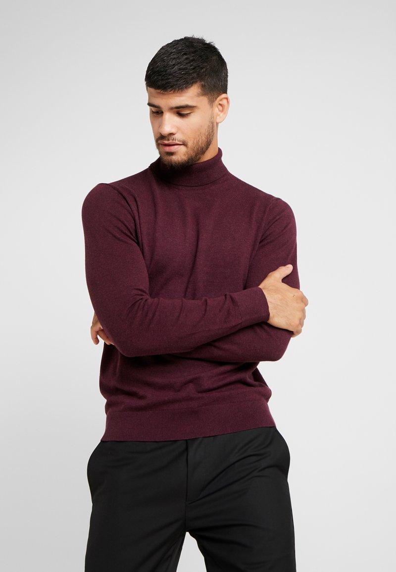 Burton Menswear London - CORE ROLL - Jumper - burgundy