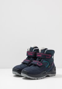 Lowa - MILO GTX MID - Winter boots - navy/magenta - 3