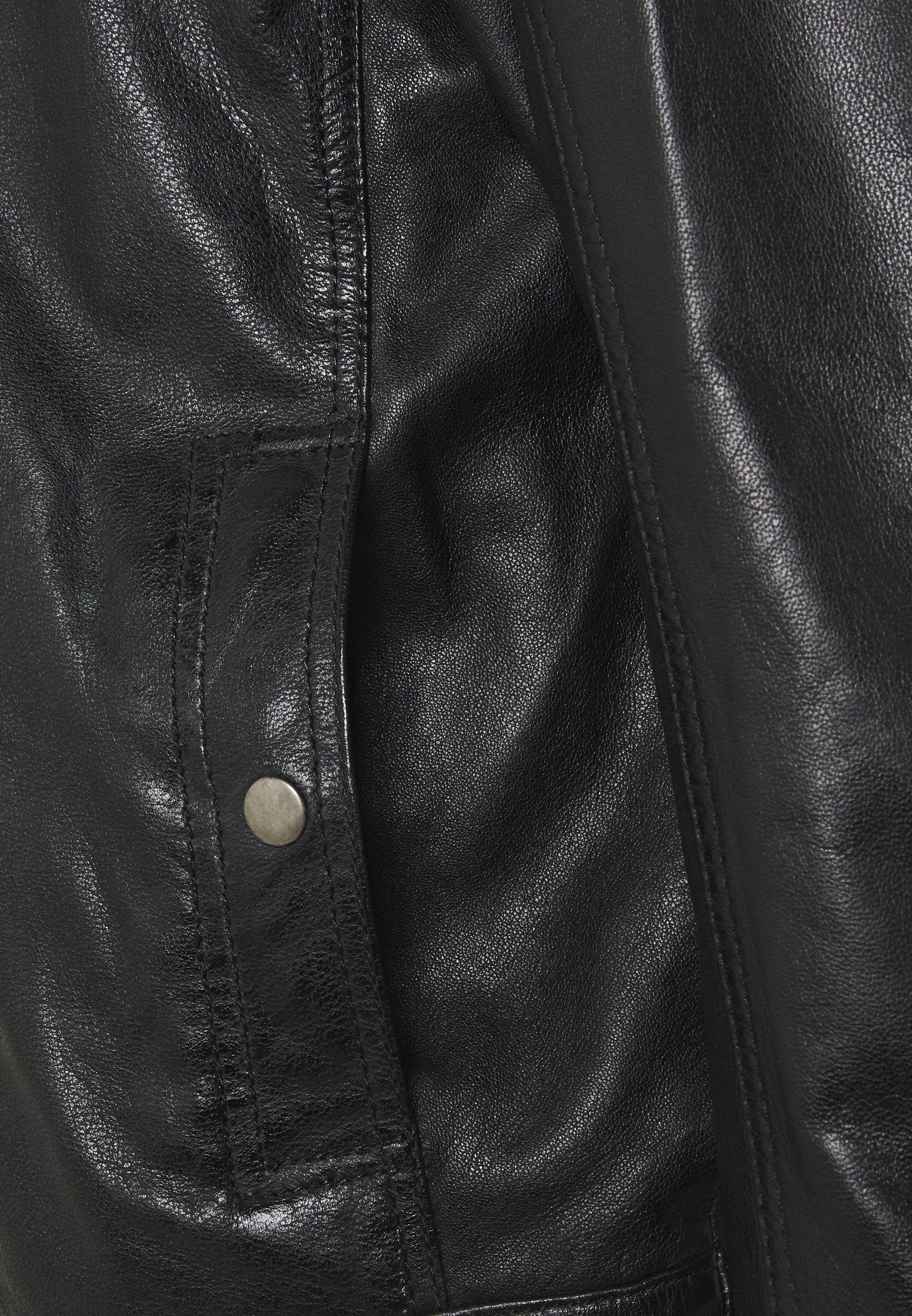 Achetez Le Meilleur Vêtements homme Oakwood GILLES Veste en cuir noir CjRSTHSN