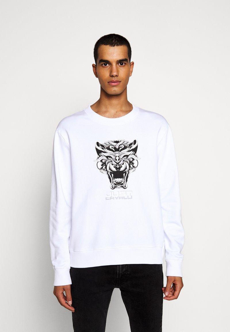 Just Cavalli - FELPA - Sweatshirt - white