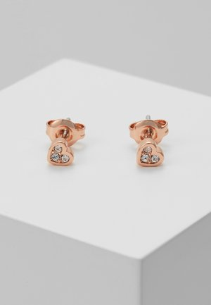 NEENA NANO HEART STUD EARRING - Earrings - rose gold-coloured