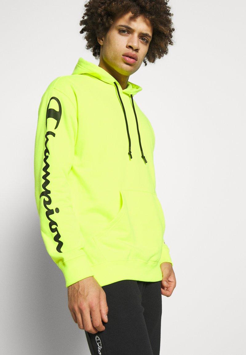 Champion - HOODED - Bluza z kapturem - neon yellow