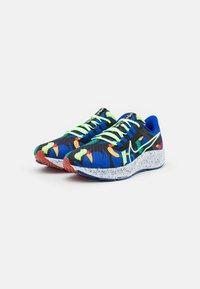 Nike Performance - AIR ZOOM PEGASUS 38 KA UNISEX - Zapatillas de running neutras - grain/racer blue/black/glacier blue/lime glow/obsidian - 1