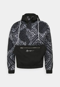 Mennace - BANDANA PRINT OVERHEAD JACKET - Windbreaker - black - 4