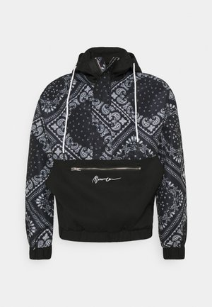 BANDANA PRINT OVERHEAD JACKET - Windbreaker - black