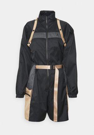 NEXT UTILITY - Jumpsuit - black/iron grey/hemp