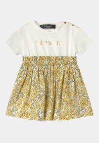 Versace - BAROQUE KIDS POPLIN SIGNATURE SET - Jersey dress - white/gold - 0
