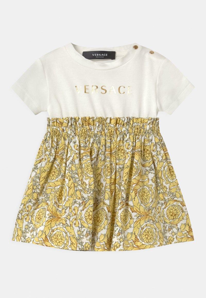 Versace - BAROQUE KIDS POPLIN SIGNATURE SET - Jersey dress - white/gold