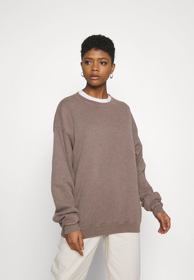 CREWNEWCK  - Sweater - choc