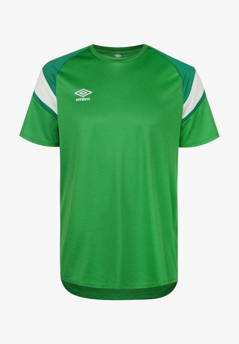 Umbro - Print T-shirt - tw emerald / lush meadows / brilliant white