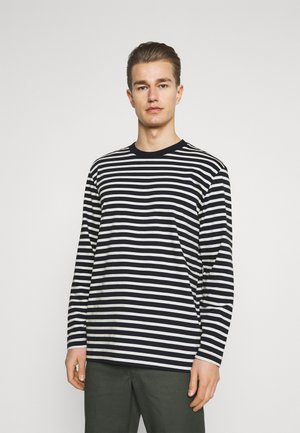SLHRELAXCOLMAN O NECK TEE  - Long sleeved top - black/egret