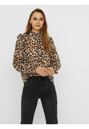 Button-down blouse - silver mink