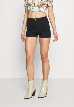 JONI - Denim shorts - black