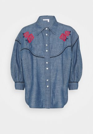 Blouse - faded indigo