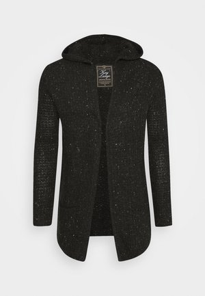 TERENCE HILL JACKET - Strickjacke - dark charcoal melange