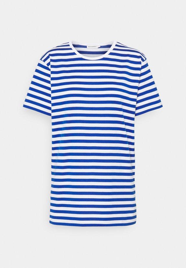 LYHYTHIHA - Print T-shirt - white/blue