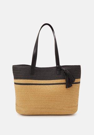 Tote bag - black/beige