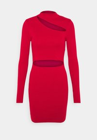 Milk it - MINI DRESS HIGH NECK CUTOUT CHEST - Shift dress - red - 3