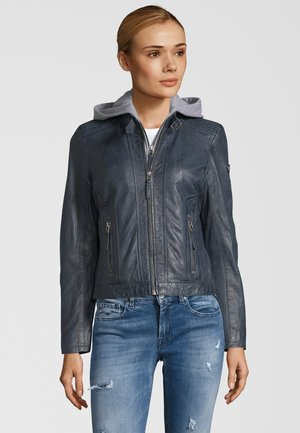 TALIDA - Leather jacket - denim blue