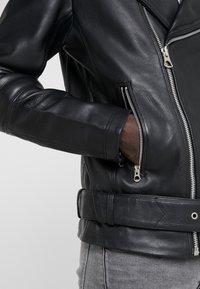 Bruuns Bazaar - FELIX JACKET - Leather jacket - black - 7
