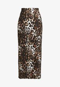 Dorothy Perkins - ANIMAL PRINT SKIRT - Maxi skirt - brown - 3