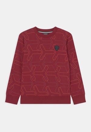 ALLOVER Y CREW NECK - Sweatshirt - bordeaux