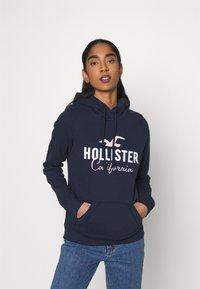 Hollister Co. - CHAIN TECH CORE - Hoodie - navy - 0