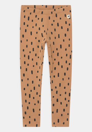MINI DOTS UNISEX - Leggings - Trousers - dark beige