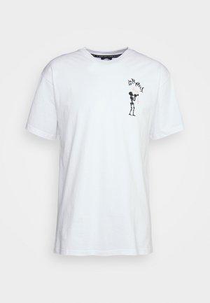THE THROAT CLEAR TEE - Print T-shirt - white