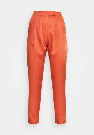HIGH WAISTED TROUSERS WITH TAPERED LEGS - Bukse - rust