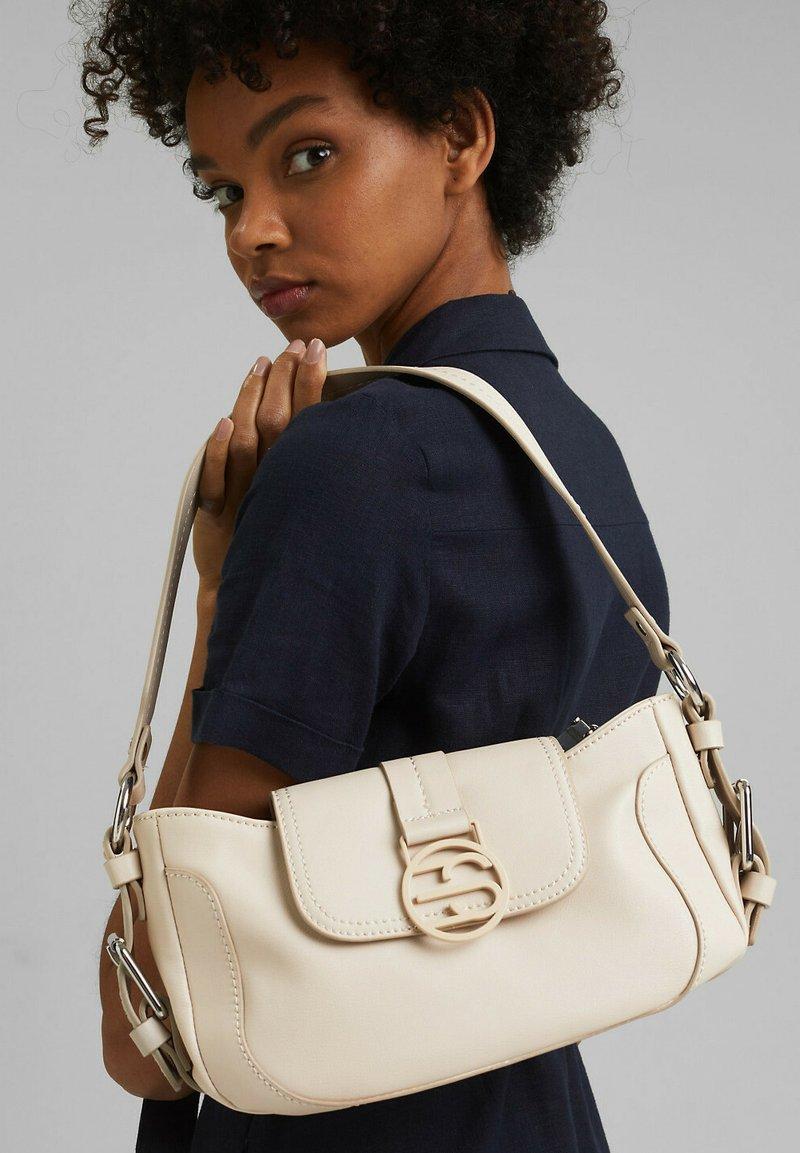 Esprit - FASHION BAGUETTE  - Handbag - light beige