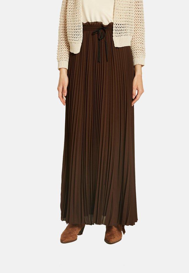 Pleated skirt - marrone