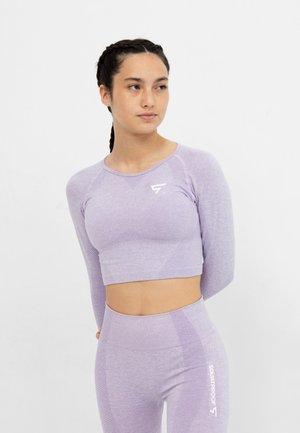 LONG SLEEVE RUSH+ SEAMLESS CROPPED LONG SLEEVE  - Sports shirt - purple