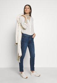 s.Oliver - LANG - Slim fit jeans - blue denim - 1