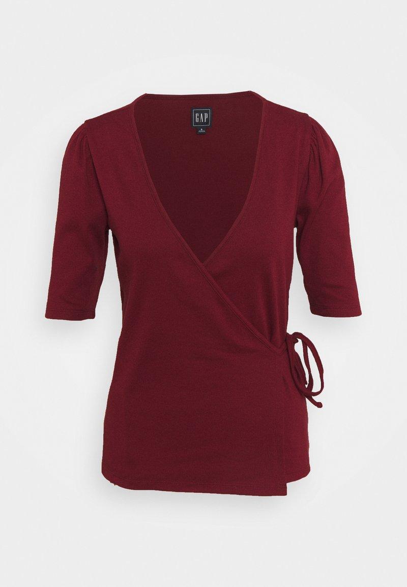 GAP - WRAP - Jednoduché triko - dark red
