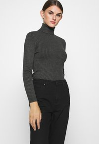 ONLY - ONLEMILY LIFE - Džíny Straight Fit - black denim - 3