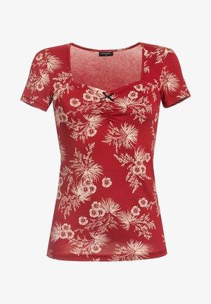 Print T-shirt - rot allover