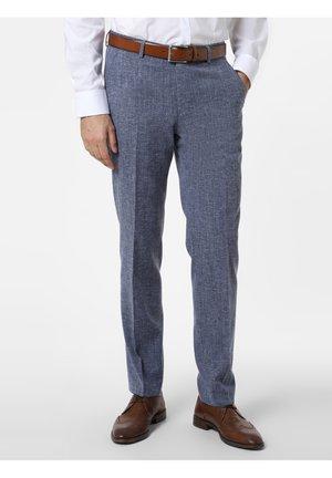 Suit trousers - indigo/weiß