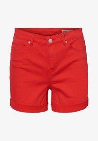 Vero Moda - VMHOT SEVEN MR FOLD SHORTS COLOR - Denim shorts - goji berry - 5