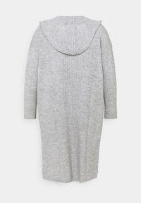 CAPSULE by Simply Be - COSY HOODEDUPDATE WITH POCKETS - Cardigan - grey marl