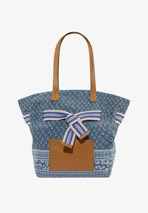 MIT LOGO-PRINT - Handbag - hellblau